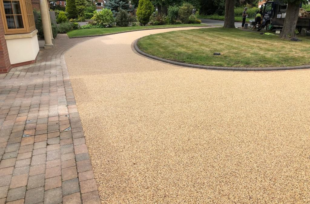 Resin driveway in Spring haze laid in Solihull