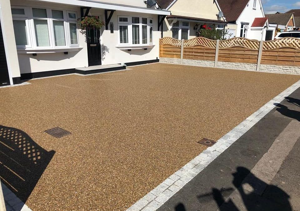 New Staffordshire resin bound gravel driveway