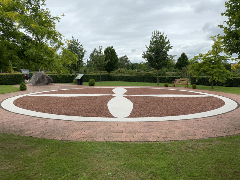 RAF Halton Grove memorial at the National Memorial Arboretum