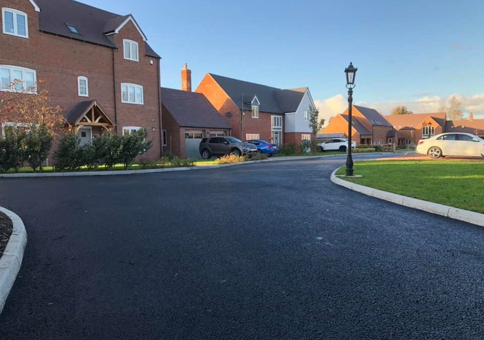 New housing estate roads laid in Shenstone