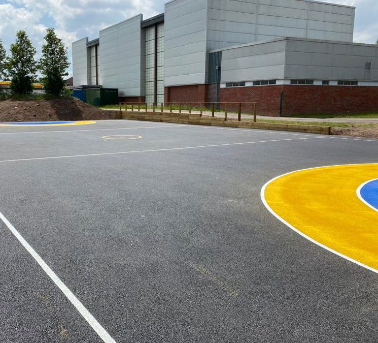 Netball court, Streetly Academy