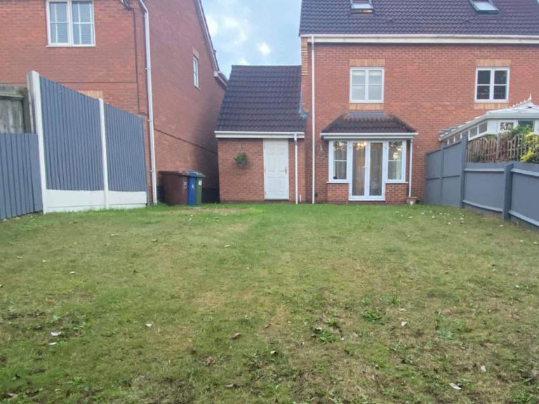 Rugeley patio before