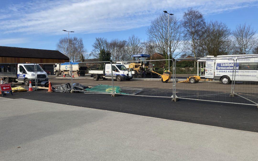 Boley Park Car Park Resurfaced