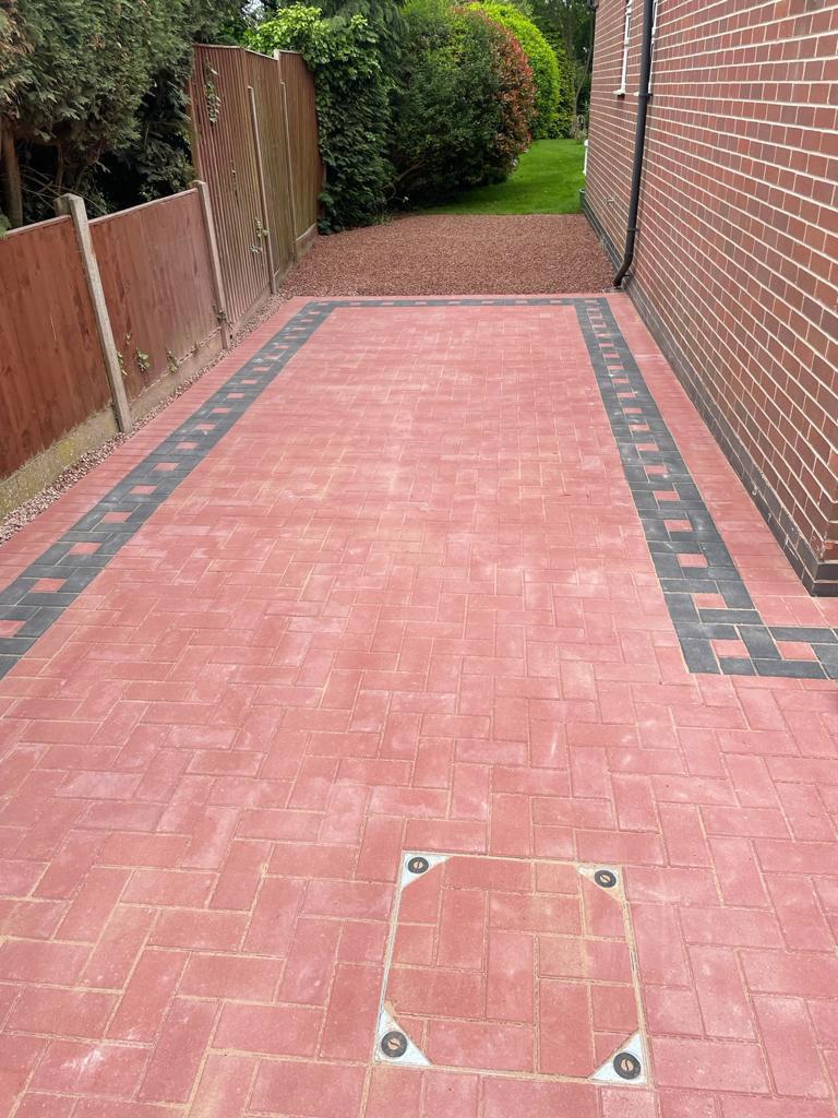 New Block Paved Driveway in Alrewas, Staffordshire